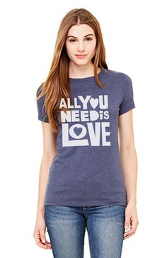 All you need is love women tshirt t shirt size S M L by DaInkSmith Love  Shirt 668a94870