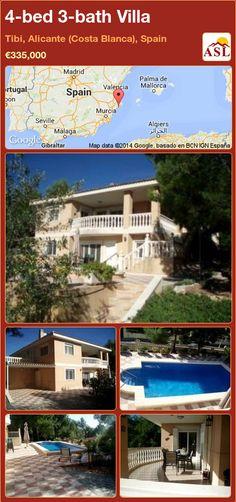 4-bed 3-bath Villa in Tibi, Alicante (Costa Blanca), Spain ►€335,000 #PropertyForSaleInSpain