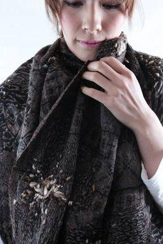 asiaza blog: 1円開始!!! ウール100% 軽い 上質ストール 手刺繍 インド No4 - ヤフオク!