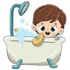 Niño bañándose en la bañera con espuma. ...   Premium Vector #Freepik #vector #personas #bebe #ninos #dibujos-animados Art Drawings For Kids, Amazing Drawings, Colorful Drawings, Cute Drawings, Steam Cleaning Services, Peach Background, Cartoon Kids, Doodle Art, Clipart