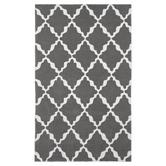 This Lattice Rug ($170 and up) is 100 percent wool, and features a sophisticated, Moroccan-inspired lattice pattern. Go girly with the purple or aquamarine color choice, or try a more reserved gray or black colorway.