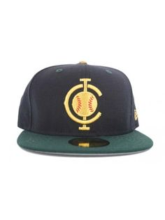 d94eb44a2c3 Cleveland Indians Custom Fitted - Navy   Green - Gold by New Era  35.00  Indian Customs