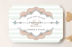 Striped Sweet Nothings Save the Date Cards by Frooted Design at minted.com