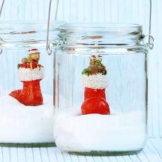Decoracion Fiestas. Velas navidad Papá Noel. Vela en bote de cristal. Navidad. @lafiestadeolivia.com