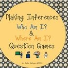Two games for working on making inferences. Who am I? and Where am I? The 'Who am I?' game is based on community helpers. The 'Where am I?' game us...