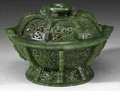 Mesh Jade Perfume Box, Chinese, Qing Dynasty