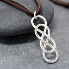 double infinity leather tie necklace, love <3