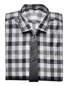 Shirt by Simon Spurr. Tie by Gitman Vintage.    Read More http://www.gq.com/style/wear-it-now/201110/best-mens-gray-shirts-ties-fall#ixzz1nlOxagbf