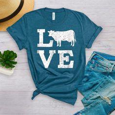 Cow Shirt For Women  / Cow Shirt  / Cow shirts Women  /Farm | Etsy