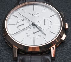 """Piaget Altiplano Chronograph Watch Hands-On - Rob Nudds - see and learn more about it: http://www.ablogtowatch.com/piaget-altiplano-chronograph-watch/ """"In an era of bulk and ostentation, the Piaget Altiplano Chronograph stands out for its old-school values. As the thinnest flyback chronograph in the world, this model builds on the legacy that began with the release of the world's thinnest hand-wound and automatic watches in 1957 and 1960, respectively. While others are concerned with…"""