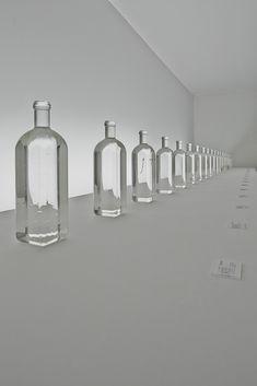 rain bottle / 名前の異なる 20種類の「雨の標本」for Trend Exhibition @Maison&Objet Paris 2014