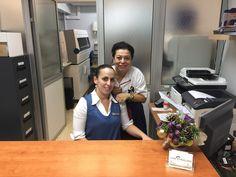 Ana y Yuri en Clínica Santa Cruz