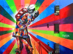 High Line Elevated Park, NEW YORK (pintado por Eduardo Kobra, en Chelsea