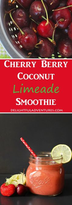 Cherry Berry Coconut Limeade Smoothie