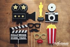 Hollywood Photo Booth Prop Set Hollywood Photo by Perfectionate