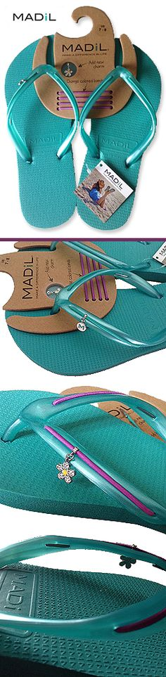 Wish List Wednesdays: Just in Time for Spring Break! MADiL Flip Flops with Interchangeable Charms and Bands ... http://thegiftingexperts.com/wish-list-wednesdays-just-in-time-for-spring-break-madil-flip-flops-with-interchangeable-charms-and-colored-bands/