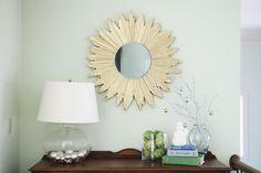 DIY starburst mirror made from wood shims! - Bower Power Blog