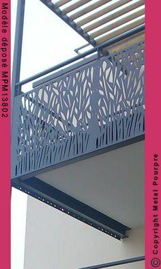 fuseau végétal - AURELIUS ROC Veranda Railing, Glass Balcony Railing, Balcony Railing Design, Balustrade Balcon, Balustrades, Balcon Grill, Architect Design House, Balcony Grill Design, Feature Wall Design