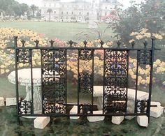 "Dollhouse Miniature Handcrafted 1:12 (1"")  inch scale  Metal Wrought Iron Fence .  Made to Order OOAK."