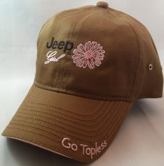 Jeep Girl Go Topless Cap - Light Brown - California Jeep Authority - Jeep Gifts, Shirts, Toys and Accessories