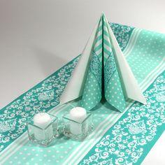Inspiration til mintgrøn borddækning #Tekstilservietter #DrengeKonfirmation