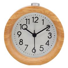 Old Fashioned Clock, Wooden Clock, Wood Colors, Alarm Clock, Night Light, Natural Wood, Modern Design, Renting, Classic