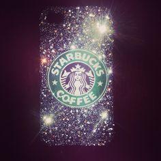 DIY Starbucks iPhone case! Fun, cute and easy to make!  http://www.belindaselene.com/2013/01/diy-glitter-starbucks-phone-case.html?m=1