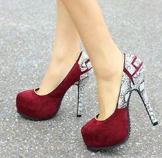 Sexy Assorted Color SnakeSkin Platform Stiletto Heels