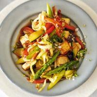 Asia-Pfanne mit Tofu