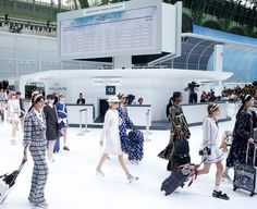 Chanel's spectacular airport-themed set