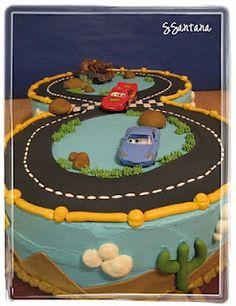 figure eight race track cake