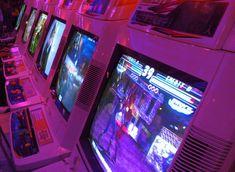 gaming dark pink purple my upload neon retro gaming glow Arcade cyberpunk high res aesthetic Arcade, Overwatch, Slytherin, Genji Shimada, San Junipero, Nintendo Console, New Retro Wave, Creepy, Ready Player One