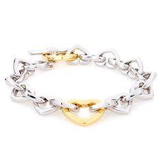 Heart Chain Bracelet http://w-jewelries.com/bracelet/heart-chain-bracelet.html