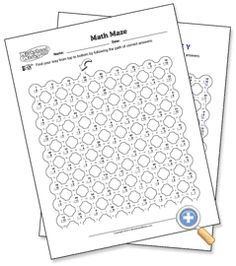 Worksheets Multi Operational Mathematical Maze fun worksheets teaching end of the year pinterest units multi operation math maze worksheetworks com