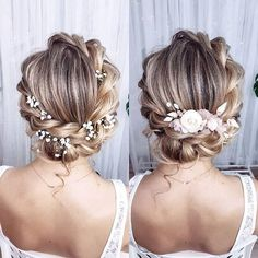 In which version do you like this pin more – with plasterboard or comb … – Frisur hochgesteckt - Beste Frisuren Hairstyle Bridesmaid, Bridal Hair Updo, Bridal Hair Vine, Wedding Hair And Makeup, Wedding Updo, Gift Wedding, Bouquet Wedding, Bridal Headpieces, Boho Wedding