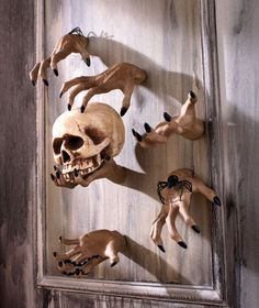 Creepy Hand Wall Hangers.  Awesome for a Halloween party!