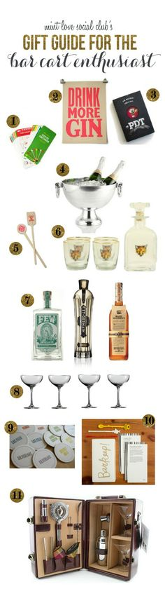 A Fabulous Fete: gift guides // the bar cart enthusiast mint love social club