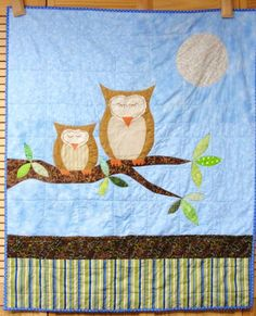 """""""How big the sky mama? As big as my love for you."""" Baby quilt $185"""