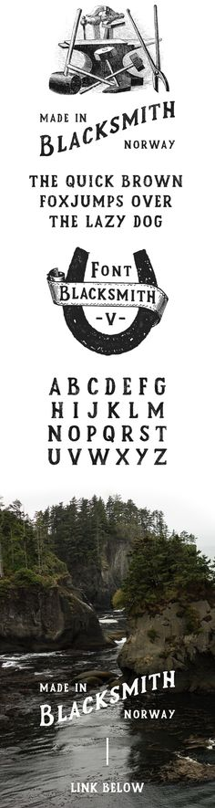 Blacksmith Font on Typography Served