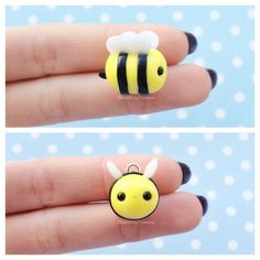 Hey everyone, here's a happy little honey bee charm! Hope your all having a good day!! this little charm was inspired by @moonlight.charms #momokittycreations #polymerclay #polymerclaycharms #cute #craft #charms #claycharm #claycharms #claycreations #clayminiatures #fimo #fairykei #kawaii #kawaiijewelry #handmade #pastel #etsy #etsyshop #bee #honeybee