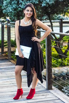 8 Little Black Dress \u0026 Red Boots ideas