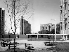 Regent Park Towers November 3, 1961 in Toronto, won a 1961 Massey Silver Medal. The firm of Page and Steele, including architect, Peter Dickinson, used principles of floor layout design from a U.S.study. (Neil Newton Photography/The Globe and Mail)
