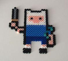 Finn from Adventure Time Perler Bead Sprite by AllTheFeels on Etsy, $2.50