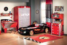 Déco chambre garçon - 27 idées originales thème voiture | Voiture ...