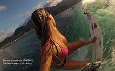 Girl Bikini Photo Shoot with Go Pro HERO 2 Outdoor Surfing Camera
