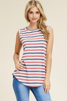 Pride Stripe Tank Marina Laswick, Striped Tank, Blue Stripes, Green Hair Girl, Fabric, Pink, Red, Womens Fashion, Bikinis