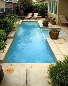 Small Inground Pool, Inground Pool Designs, Small Swimming Pools, Small Pools, Swimming Pools Backyard, Swimming Pool Designs, Lap Pools, Indoor Swimming, Indoor Pools