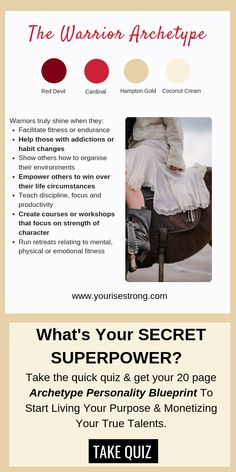 """Take the quiz to receive your page """"Soul Brand Blueprint"""". Discover Your Natural Talents That Lead To Your Profitable Life Purpose Personality Archetypes, Jungian Archetypes, Brand Archetypes, Personality Types, Superpower Quiz, Discover Yourself, Finding Yourself, Joseph Campbell, Themes Photo"""