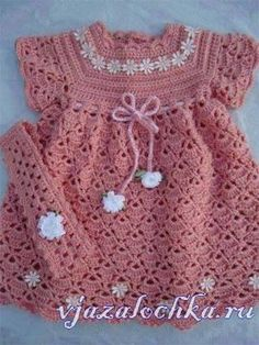 Детское платье крючком, схема