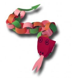 Paper Crafts for Children » Paper Chain Dragon or Snake This is fun to make.